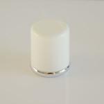 Tappo bianco tondo riga argento - 9050702